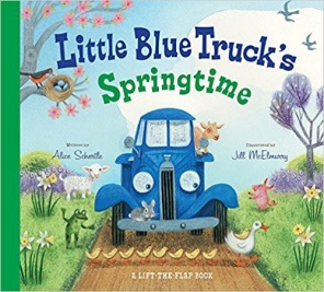 little blue truck springtime